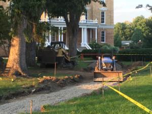 Construction outside Kendall Hall. Julie Havlak | Collegian