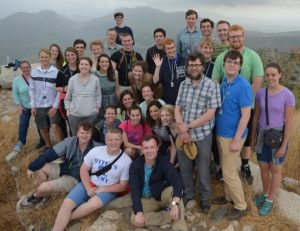 The Class of 2017 Collegiate Scholars stood on top the Acrocorinth during a 10-day stay in Greece in May, the first time the program did not go to Turkey on its annual trip in 13 years. (Photo: Andrea Sommer / Hillsdale Collegian)
