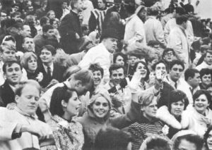 Students celebrate the 50th anniversary of homecoming in 1966. Winona Yearbook | Courtesy