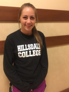 "Catherine Pearsall: ""I'm most excited just because, at Hillsdale, so many people have impacted my life and shaped me into who I am, and it's just nice to realize that I've impacted people, as well."" Clara Fishlock 