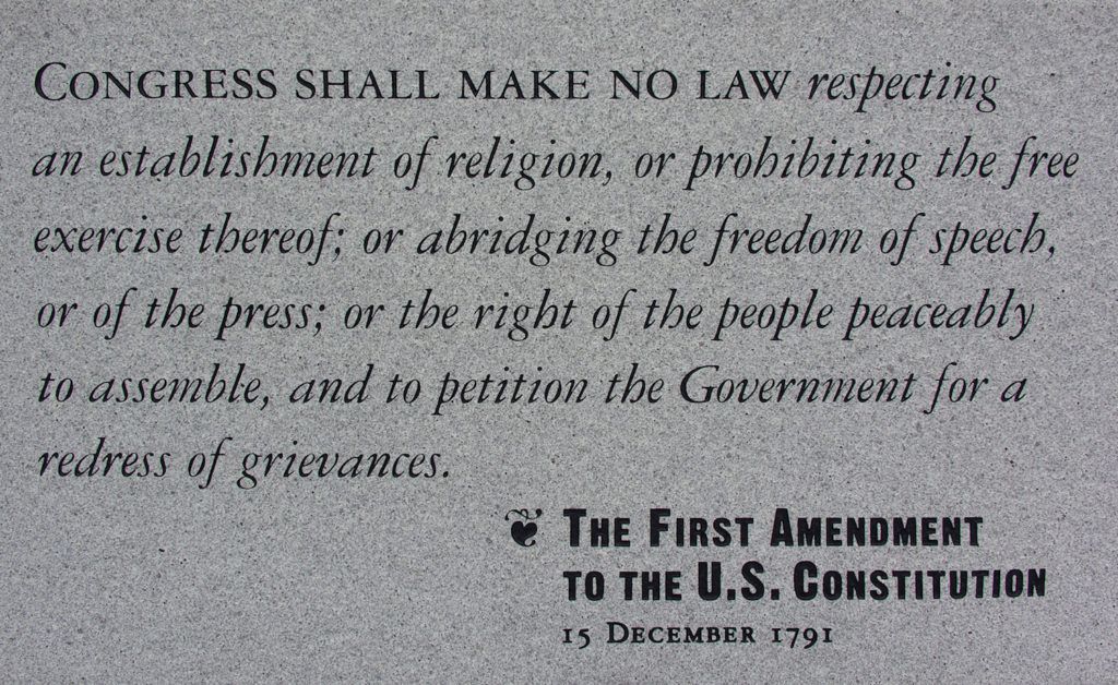 The 1st Amendment of the United States Constitution | Wikimedia Commons