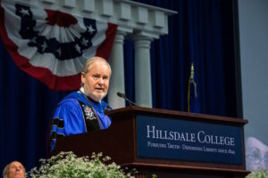 President of Hillsdale College Larry Arnn speaks at Spring commencement | Collegian