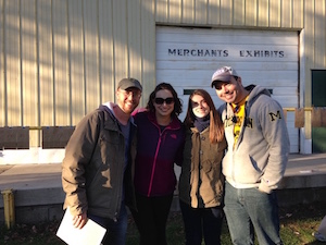 Longtime participants Geoff Mayers, Monica Magiera, Laura Mayers, Nick Taylor, L to R, helped plan and host the 83rd Lewis Emery Treasure Hunt. Geoff Mayers/Courtesy