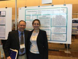 Senior Bilyana Petkova stands with Professor of Biology Frank Steiner after presenting her research at the Van Andel Institute in Grand Rapids Nov. 5.  Bilyana Petkova | Courtesy