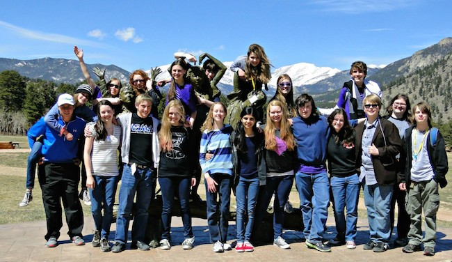 Students from Lone Pine Classical School pose for a picture in Estes Park, Colorado in 2014. Jordyn Pair | Courtesy