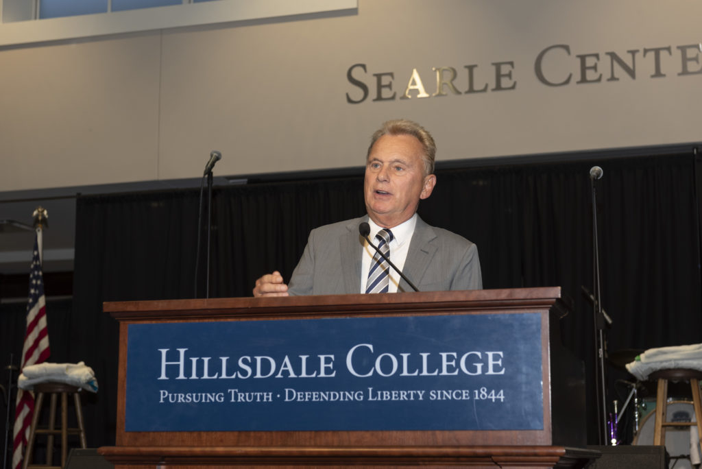 2019 : Pat Sajak, Wheel of Fortune Host, Named Hillsdale College Chairman of the Board