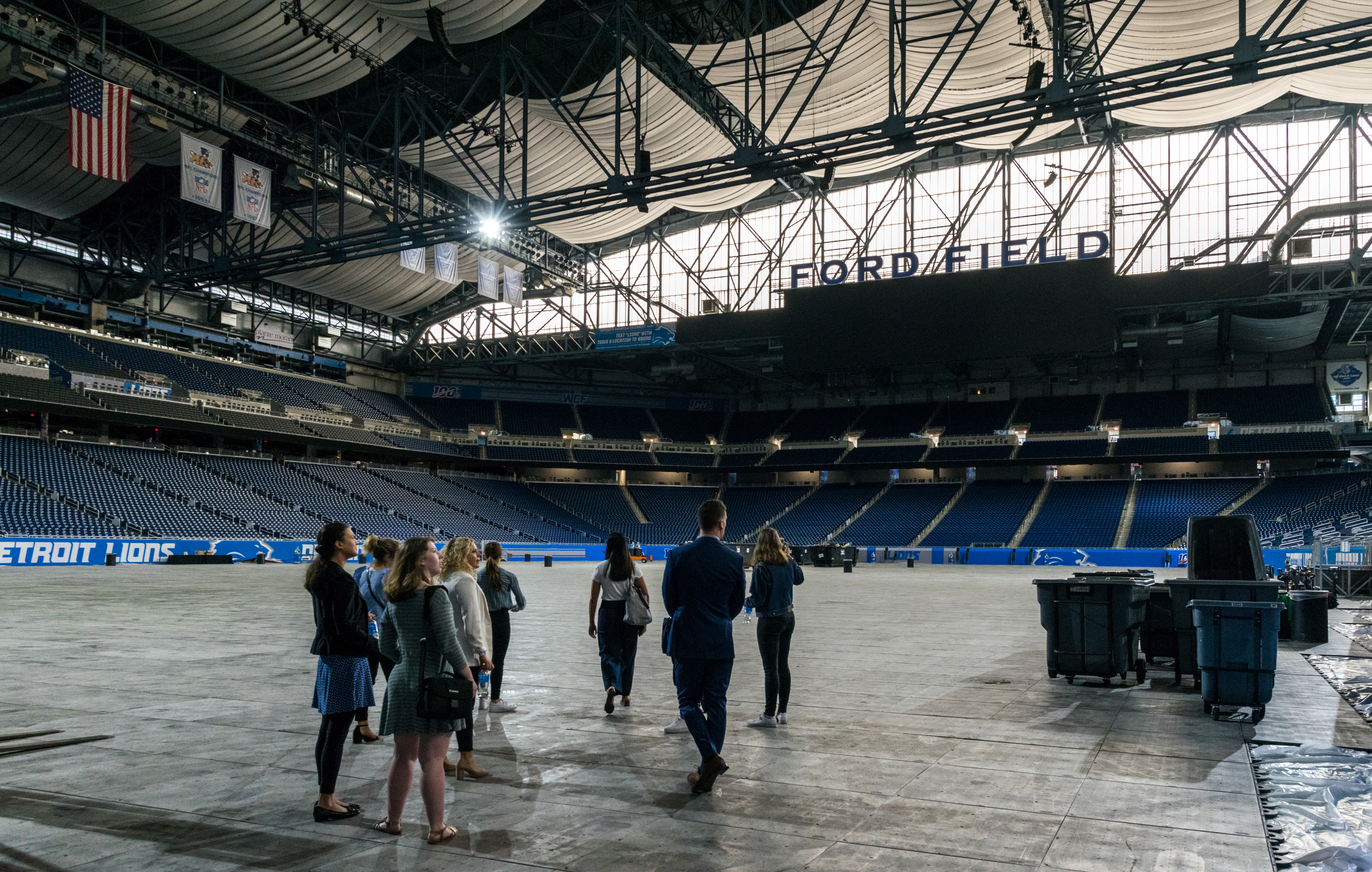 Students on the Explore Detroit trip got to tour Ford Field, home of the Detroit Lions. John Quint | Courtesy
