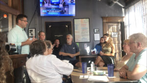 Fink meets with constituents at the brewery. Logan Washburn   Collegian