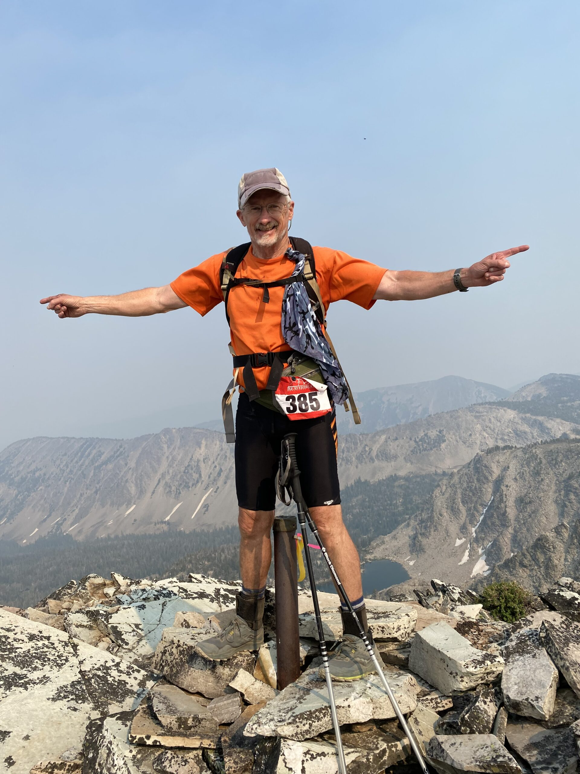 Charles Steele traverses mountain tops. Courtesy   Charles Steele