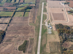 An aerial view of the taxiway. Courtesy | City of Hillsdale