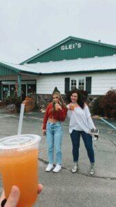 Enjoying the treats at Glei's orchard. Haley Strack   Collegian