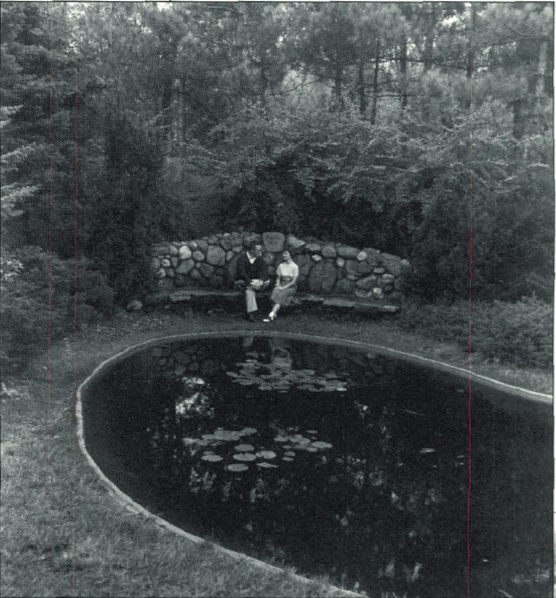 Two students sit together in the Slayton Arboretum. Courtesy | Hillsdale Alumni Magazine
