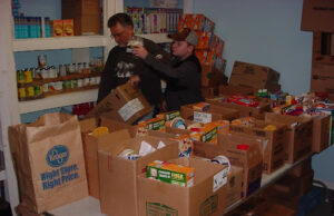 Volunteers prepare food at Father's Table Food Pantry. Courtesy | El Bethel Pentecostal Church