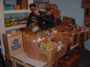 Volunteers prepare food at Father's Table Food Pantry. Courtesy   El Bethel Pentecostal Church